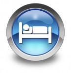 "Glossy Pictogram ""Hotel / Lodging"""